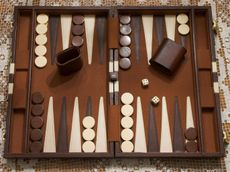A backgammon board